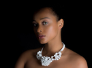 Flora Collar | floraform collection in White Strong & Flexible