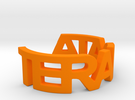 TERADATA Ring Size 7 in Orange Strong & Flexible Polished