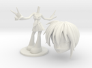 AniMe - Teeny Figurine - Schoolgirl in White Strong & Flexible