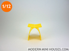 1:12 scale Capelli Stool in Yellow Strong & Flexible Polished