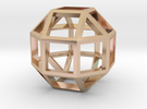 Rhombicuboctahedron Pendant in 14k Rose Gold Plated