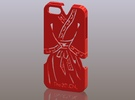iPhone5_The Chinese Style-Ancient costume 01 in Red Strong & Flexible Polished