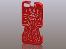 iPhone5_The Chinese Style -- Ancient costume 03 in Red Strong & Flexible Polished