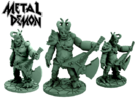 Metal Demon (28mm scale miniature) in White Strong & Flexible Polished