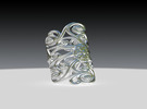 Wrought Iron MARKET Bend Ver2 9 in Premium Silver