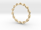 Twist Ring in 14k Gold Plated