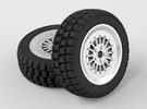 Car Rim for Model Scale 1/24 in White Strong & Flexible