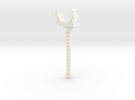 MP-24 Rotated Long Swword Handle  in White Strong & Flexible Polished