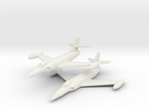 Lockheed XF-90 Pair (In Flight/Fuel tanks) 1/285 in White Strong & Flexible