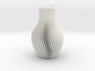 Vase in White Strong & Flexible Polished
