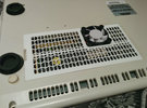 A1200 CPU Expansion Port Cover - 40mm Fan Rev2 in White Strong & Flexible