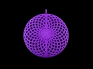 Quark Pendant - Flower Moire (1lmYyU) in Purple Strong & Flexible Polished