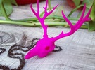 Deer Skull Charm - 3DKitbash.com in Pink Strong & Flexible Polished