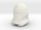 "Clone Trooper Helmet 4"" in White Strong & Flexible"