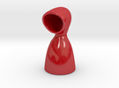 Hooded Vase in Gloss Red Porcelain