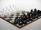 Wireframe Chess set in Black Strong & Flexible