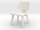 1:24 Eames Molded Plywood Chair in White Strong & Flexible