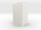 PI Pen Holder Square Shaped in White Strong & Flexible Polished