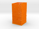 PI Pen Holder Square Shaped in Orange Strong & Flexible Polished