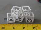 Tetra Cube in White Strong & Flexible