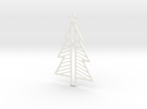 Christ-mas Tree in White Strong & Flexible Polished