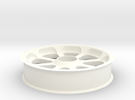 Smooth idler - 60 mm OD (~24T, 8P) in White Strong & Flexible Polished