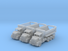 Tri Axle Cylinder Dump Truck N Scale in Frosted Ultra Detail