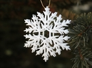 Snowflake ornament- 6cm in White Strong & Flexible