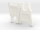 Quadra RC10 V2 Rear Arms in White Strong & Flexible Polished