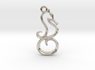 Tiny Seahorse Charm in Rhodium Plated
