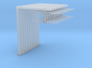 N Scale 10 Pc - Dble Track Cantilevered Staunchi in Frosted Ultra Detail