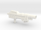 Devastator Gun Hollow  in White Strong & Flexible Polished
