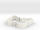 Butterfly cookie cutter in White Strong & Flexible Polished