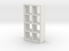 1:24 Modern Bookshelf in White Strong & Flexible