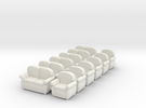 Sofas 01. HO  Scale (1:87) in White Strong & Flexible