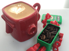 TASTEspresso, coffee cup in Gloss Red Porcelain