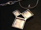 Silver Pythagorean Theorem Pendant in Premium Silver