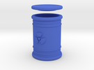 Radioactive Waste Barrel in Blue Strong & Flexible Polished