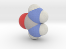 Urea molecule (x40,000,000, 1A = 4mm) in Full Color Sandstone