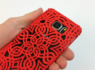 Lotus Art case for Galaxy S6 in Red Strong & Flexible Polished