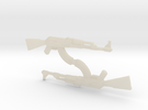 AK-47 1/148 Scale, Pair in White Acrylic