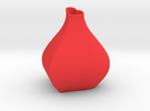 Heart Sine Wave Vase in Red Strong & Flexible Polished