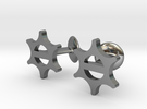 Cufflinks-Snowflake in Polished Silver