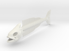 "FISH SKELETON 12"" in White Strong & Flexible"