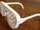 ChainShades - Chain Mail Sunglasses   in White Strong & Flexible