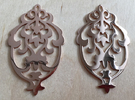 BlakOpal Victorian Damask Earring in 14k Rose Gold Plated