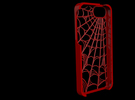 Webbed: Case for Iphone 5S in Red Strong & Flexible Polished