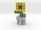 SUNFLOWER VOXEL FLOWER DECORATION in Coated Full Color Sandstone