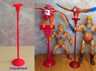 Battle Bird Stand for 7 inch figure in Red Strong & Flexible Polished