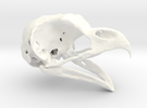 Great Horned Owl Skull in White Strong & Flexible Polished